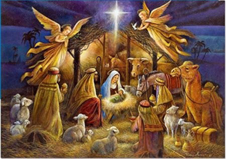 Christmas Message Image 2018 Manger Scene